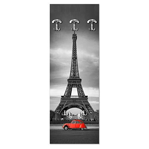Lupia Appendiabiti da Parete 49X139 cm Parigi - Dyane Rossa