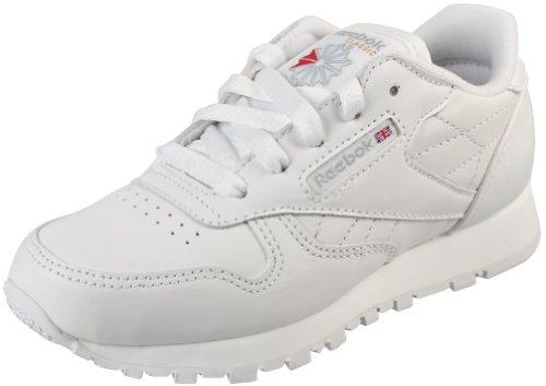 Reebok Little Kid Classic Leather Sneaker,White,13 M US Little Kid