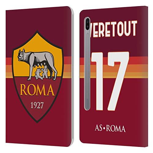 Head Case Designs Licenza Ufficiale AS Roma Jordan Veretout 2020/21 Giocatori Home Kit Gruppo 1 Cover in Pelle a Portafoglio Compatibile con Samsung Galaxy Tab S6 (2019)