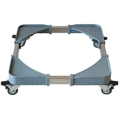 Adjustable Trolley Washing Machine Pedestal Fridge Base Movable Rack Wheels With Brake Washing Machine Floor Trays