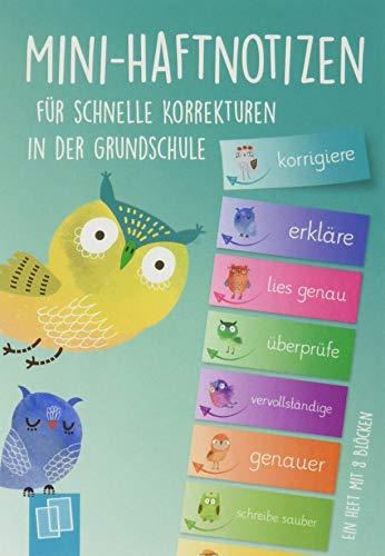 Mini–Haftnotizen für schnelle Korrekturen in der Grundschule: Ein A6-Heft mit 8 Blöcken