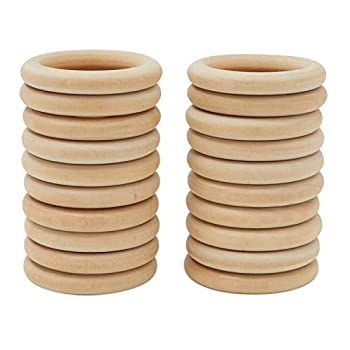 Wooden Rings for Crafts  3 In 30 Pack