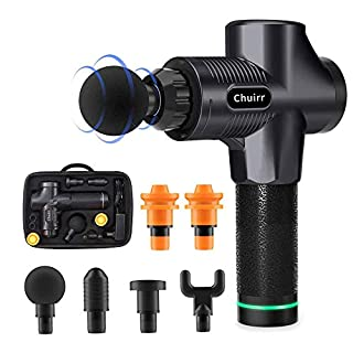 Chuirr Massage Gun, Professional Handheld Deep Muscle Massager, Cordless Vibration Massage Device Helps Relieve Muscle Soreness and Stiffness (Black) (B07X8NNCHH)   Amazon price tracker / tracking, Amazon price history charts, Amazon price watches, Amazon price drop alerts