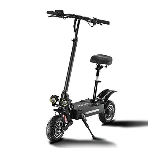 ZLYJ Patinete Electrico, Plegable Scooter Electrico Motores Duales 2800W 85 km/h con Faros LED, Bateria Iones Litio 38Ah, para Adolescentes y Adultos