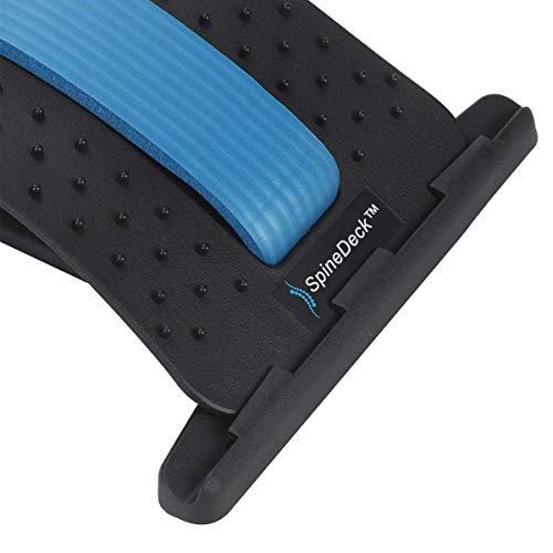SpineDeck - Dispositivo ortopédico para estiramiento de espalda, soporte lumbar de varios niveles, alivio del dolor muscular inferior y superior (azul)