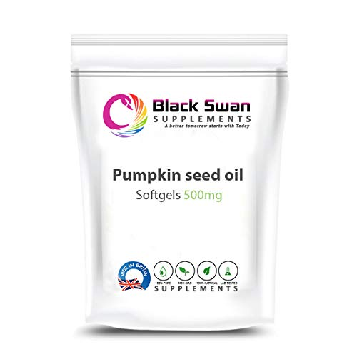Black Swan Pumpkin Seed Oil – Healthy Cholesterol – Anti-inflammatory – Anti-oxidant Properties – 500mg Soft Gel (120 softgels)
