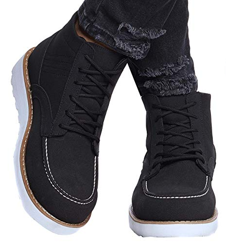 Leif Nelson Herren Schuhe Klassische Stiefel Freizeitschuhe Boots Winterschuhe Männer Sneakers LN161; 42, Schwarz