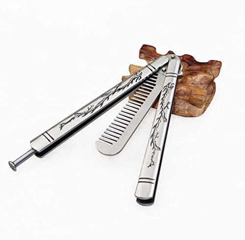 Lancoon Cuchillo Mariposa de Práctica con Seguro de Pestill