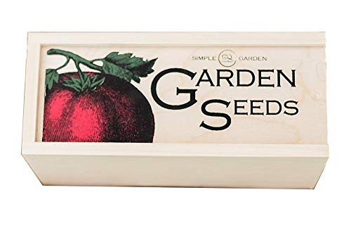 Aufbewahrungsbox für Saatgut, groß, 11,75 l, 5,1 breit, 6,5 H – Fachmännisch in den USA gefertigt mit Trennkarten im Vintage-Stil für die Organisation von Samen