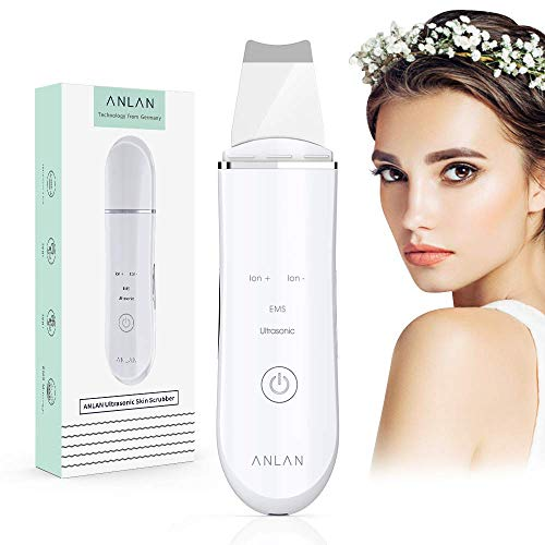 ANLAN Peeling Ultrasónico Facial Skin Scrubber Exfoliación Facial Ultrasónica Limpiador de Poros para Limpieza Facial y Cuidado Facial