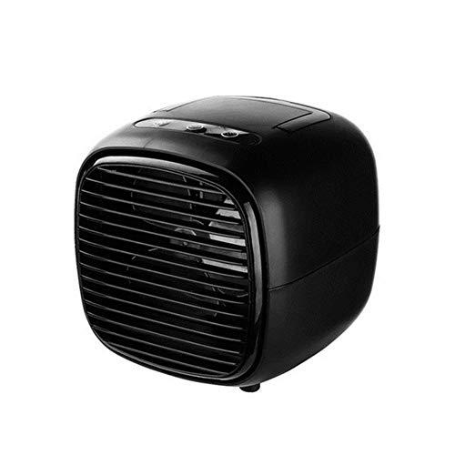 Ai-lir Aire Acondicionado Aire Cooler Fans USB Portátil Refrigerador de Aire Mesa Minifetia Ventilador para Menajes Oficina Dispositivo de refrigeración (Color : Black)
