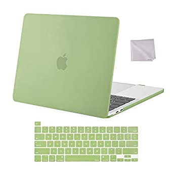 MOSISO Compatible with MacBook Pro 13 inch Case 2016-2020 Release A2338 M1 A2289 A2251 A2159 A1989 A1706 A1708 Plastic Hard Shell Case & Keyboard Cover Skin & Wipe Cloth Avocado Green
