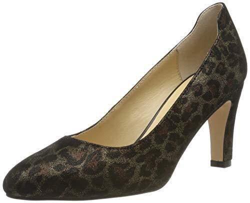 CAPRICE Damen Isabella Pumps, Schwarz (Black Leopard 90), 39 EU