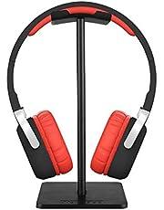 حامل لسماعات الراس عالمي مصنوع من الالمنيوم، مناسب لجميع سماعات الراس، لون اسود