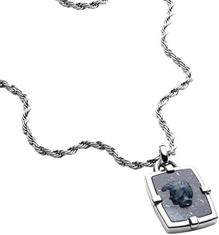 DIESEL Men s African Blue Stone Pendant Necklace DX1191040 with Gift Box product image