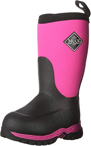 Muck Boot Unisex-Kid's Rugged II Knee High Boot, Pink/Black, Child 8 Regular US Big Kid