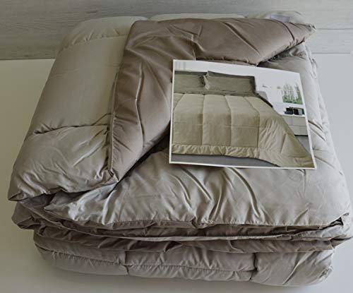 Imperial sprei winterdeken voor tweepersoonsbed, Double Face kleur taupe en fango Art Loren