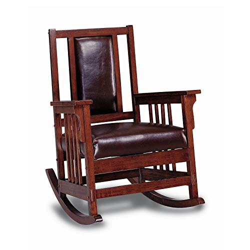 Coaster Home Furnishings CO- Rocking Chair, Tobacco & Dark Brown