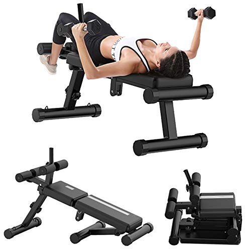 Adjustable Bench, Folding Weight Bench, Exercise Bench for Home Gym, Soft Foam Filled & Heavy Duty Steel Structure, Utility Fitness Bench Flat & Decline Board