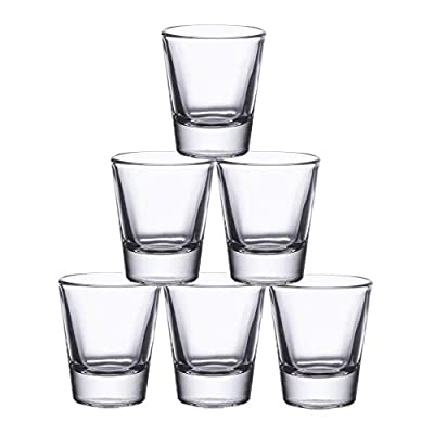 Gmark 1.5-Ounce Heavy Base Shot Glass Set, Whiskey Shot Glass 6-Pack GM2011B