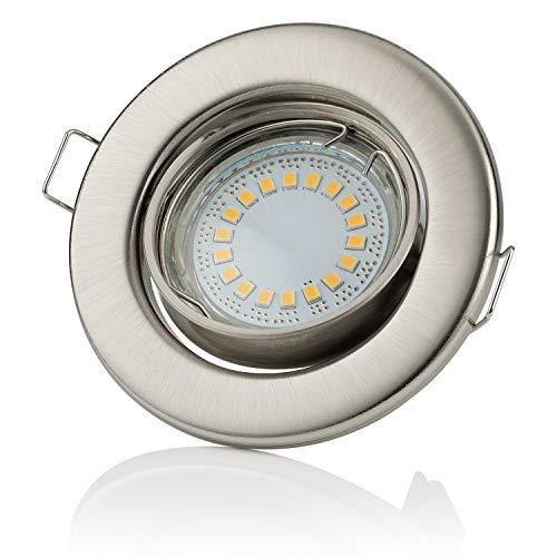 Sweet Led cadre de montage pour spot 80 LED léger 230 V, en acier inoxydable Chrome brossé