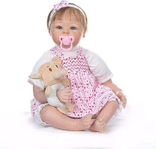 ZXYMUU Piel de Silicona renacer del bebé renacer muñecas una Mirada verdadera, los Juguetes del bebé de 22 Pulgadas, muñecas de los niños Viendo la Vida Real para niñas Regalos