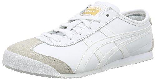 Onistuka TigerMexico 66 - Sneakers Basse da unisex da adulto, colore bianco (white/white 0101), taglia 37.5