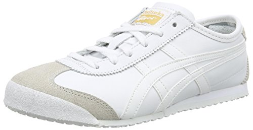 Onistuka Tiger Mexico 66 Unisex-Erwachsene Sneakers, Weiß (0101-10), 38 EU