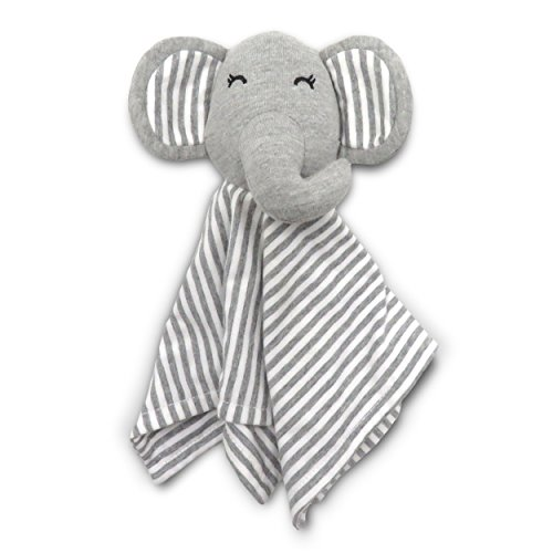 "Coney Island Cotton - Lovey Security Blanket for Baby, Soft Cuddly Elephant, 11.8"" by 11.8"""