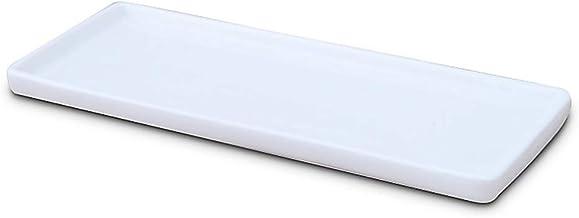 Ceramiczna tacka toaletowa biała prostokątna, wanna tacka organizer łazienkowy, pojemnik na kosmetyki do świecy chusteczek...