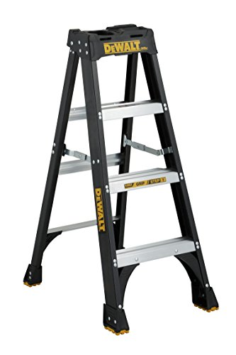 DeWalt DXL3010-04 Fiberglass Stepladder, 4-Feet, Black