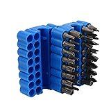33-Piece Security Bit Set with Magnetic Extension Bit Holder,destornilladores, juego de brocas magnéticas, juego de brocas especiales, llave hexagonal Star Hex Soporte Seguridad para tornillos (Azul)