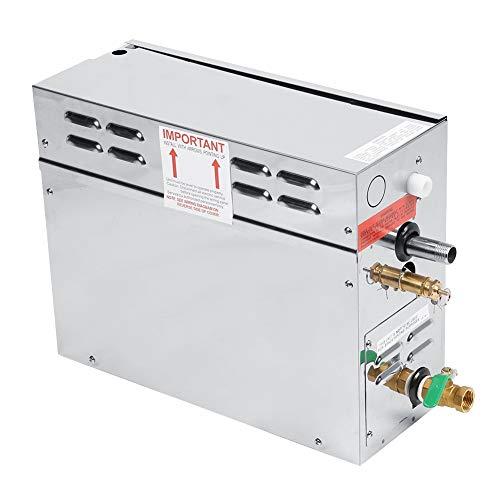 Generatore di vapore, generatore di vapore per bagno turco per sauna elettrico in acciaio inossidabile con controller di visualizzazione della temperatura digitale TC-135, impermeabile(Norma UE 220V)