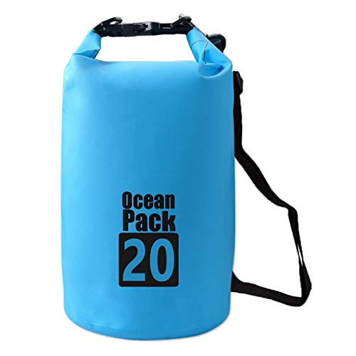 HIDARLING Dry Bag, Waterproof Bag with Long Adjustable Strap, Perfect for Beach Trips Swimming Rafting Surfing Cycling Hiking Camping (Blue, 5L)