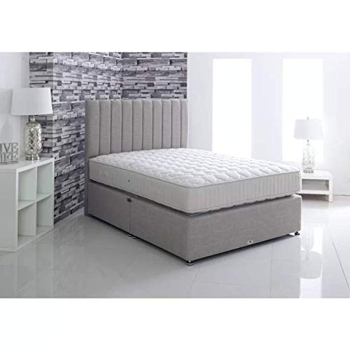 17 Stories Tufted Pocket Sprung Divan Bed (Super King (6'), 4 Drawer)