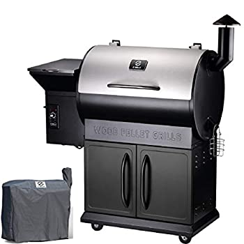 Z GRILLS ZPG-700E 2020 Upgrade Wood Pellet Grill & Smoker 8 in 1 BBQ Grill Auto Temperature Control inch Cooking Area 700 sq in Stainless & Black