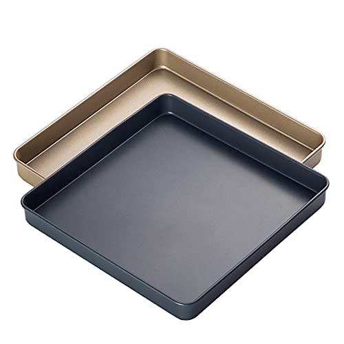 Set di utensili da forno 2 pezzi, teglia antiaderente, teglia quadrata, resistente e facile da pulire, 29 x 29 cm
