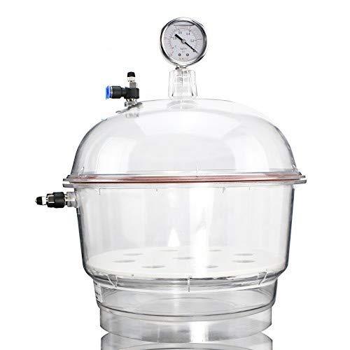 300mm vacío secador desecador laboratorio frasco dessicator química Lab secado al vacío Almacenamiento