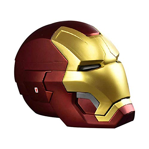 QWEASZER Iron Man all Metal Casco elettronico Maschera, Marvel Avengers 4 Supereroe Figura caschi Testa Maschere di Halloween Film Cosplay Deluxe Edition,E/B