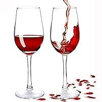 2パック赤ワイングラス、鉛フリープレミアムクリスタルクリア赤ワイングラスクリスタル手作りプレミアム赤ワイングラス、誕生日、結婚祝い350ml