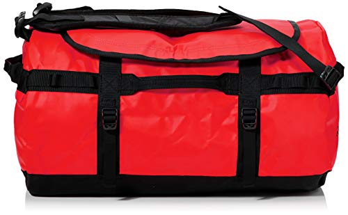 The North Face Base Camp Duffel Sports Bag, Unisex Adult, Red Red / TNF Black, S
