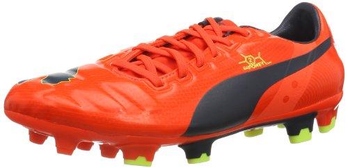 Puma evoPOWER 2 FG 102945, Scarpe da calcio Uomo, Rosso (Rot (fluro peach-ombre blue-fluro yellow 01)), 42,5