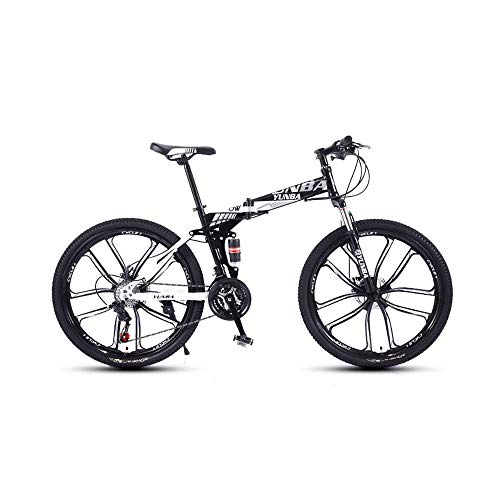 Mountain bike Mountain Bike Road Bike 24 Speed Folding Urban Track Bike 24-inch Shift Male and Female Students Double Shock Absorber Adult Dual Disc Double Shock Absorber Beach Bicycle