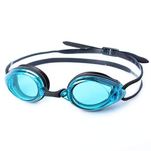 Zwembril, waterdicht, beslaat niet, uv-bescherming, voor mannen en vrouwen, sport in de open lucht, blauw