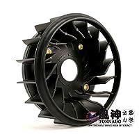 風神 空気力学 TORNADO CYGNUS X(シグナスX)BW`S125 高効率クーリングファン (ブラック)