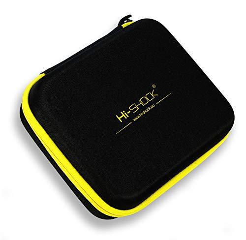 Hi-SHOCK E-Zigarette Dampf-Tasche/Vapo-Hardcase | Dampfer-Etui zur Aufbewahrung von Liquid, Vaporizer & Zubehör | Tragegriff Für Reisen - schwarz - wasserabweisend | Multi-Bag