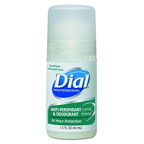 Dial 07686 Anti-Perspirant Deodorant, Crystal Breeze, 1.5oz, Roll-On (Case of 48)