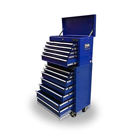 US PRO Tools - Caja de herramientas mecánica con 16 cajones, azul