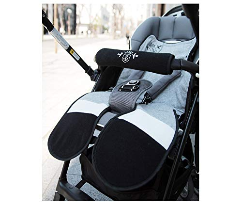 [DORACO]ひんやりベビーカーシート/固まらない保冷剤付きオールシーズン対応!チャイルドシートや子供乗せ自転車にもパイルシート(モノトーン)