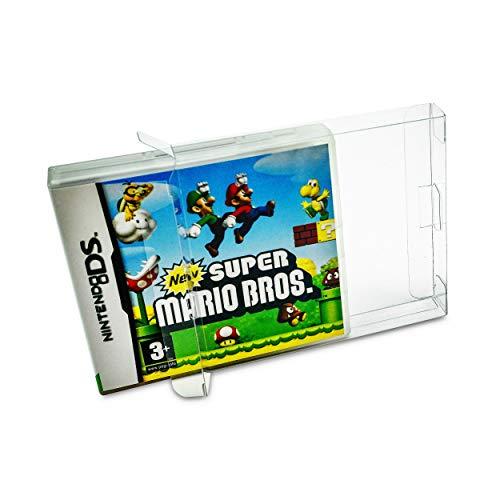 20 x Klarsicht Schutzhüllen für Nintendo DS OVP 0,3mm Passgenau und Glasklar-PET-Reset Retro Game Protectors-cases-box-Staubdicht-UV-Schutz